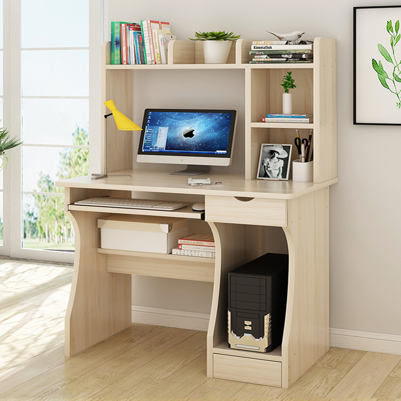 Computer desk desktop table home simple office bedroom table simple desk bookcase combination dormitory small writing desk