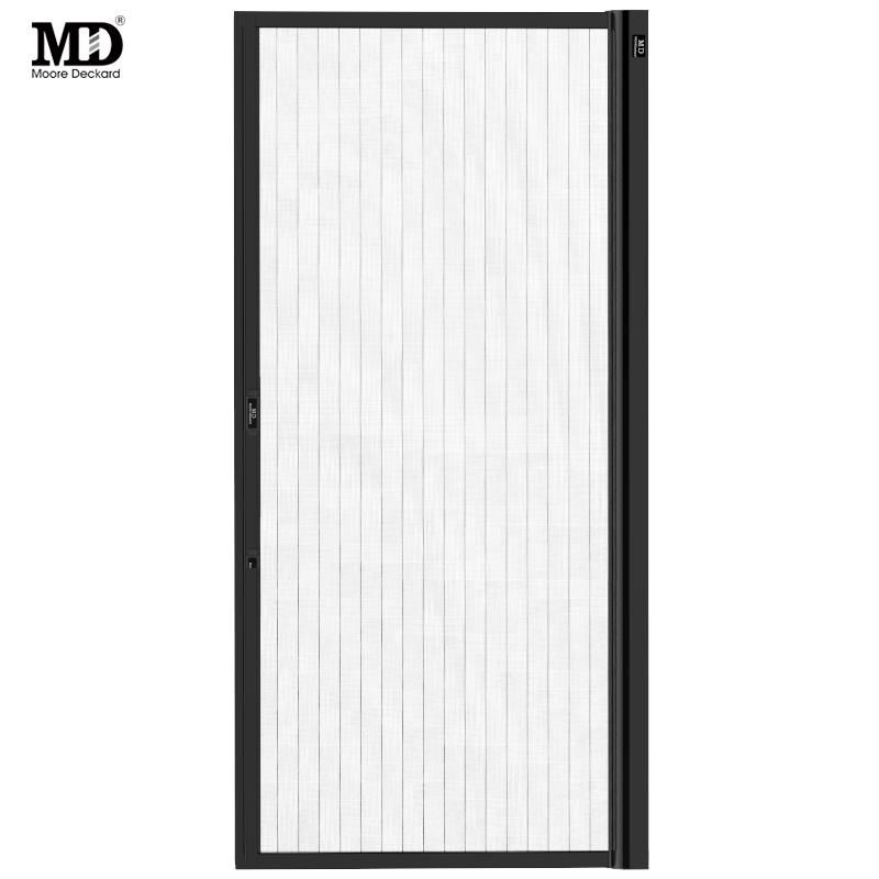摩尔戴克铝合金卷筒伸缩推拉式卷帘式防蚊隐形纱门纱窗 全国定制