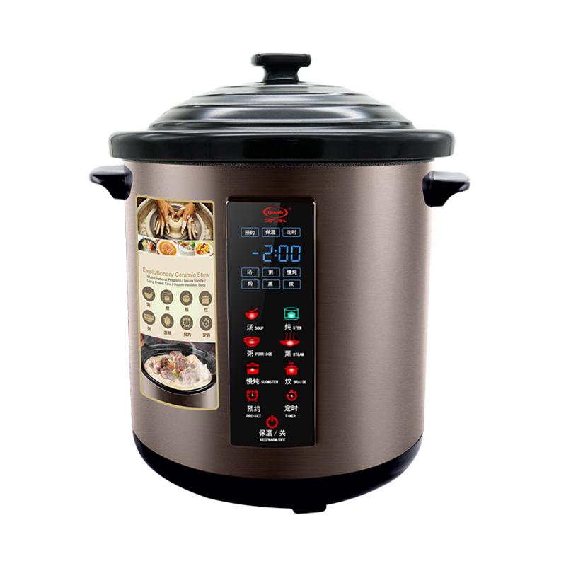 万尔 YDT-8B 陶瓷内胆电炖锅家用多功能煲预约定时大容量6-8-10L