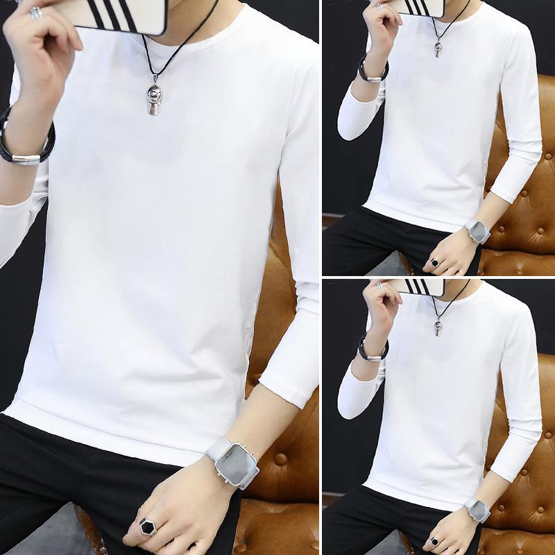 Цвет: Длинный рукав круглый сплошной Цвет/белый+белый+белый