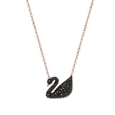Swarovski-施华洛世奇项链女锁骨链大黑天鹅水晶菜鸟5204134