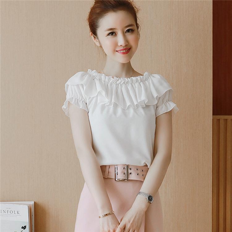 实拍2017夏季短袖t恤女韩版宽松时尚半袖露肩一字领上衣女潮