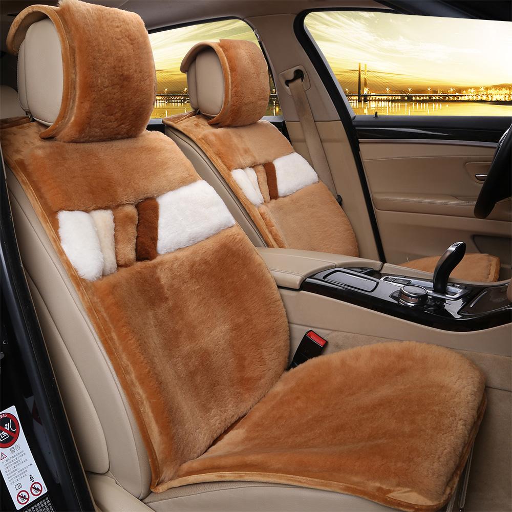 金满福纯羊毛汽车坐垫冬季短毛绒座垫羊剪绒车垫皮毛一体棉垫毛垫