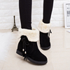 Autumn and winter snow boots female boots slip flat shoes short boots plus thick velvet warm boots female cotton-padded shoes to wear two