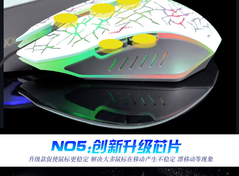 2400DPI USB Wired Optical Gaming Mouse Gamer Mice For Computer PC Laptop  zimoon store