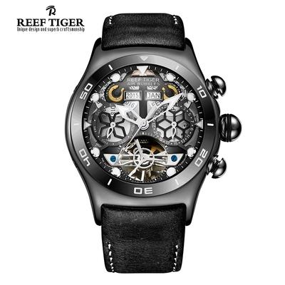 瑞夫泰格-RT疯马皮带手表男镂空机械男表个性表多功能手表RGA703