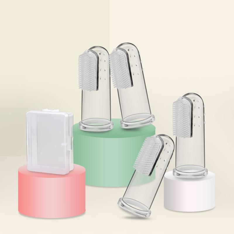 宝宝牙刷婴儿0-1-2-3岁软毛乳牙手指套硅胶儿童幼儿训练刷牙套装