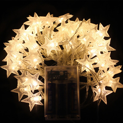 Christmas Gift Stars Latern Flashing String Light 126205