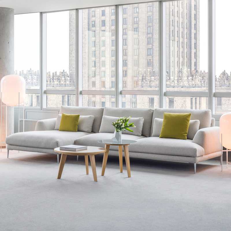 小户型布艺沙发组合简约现代北欧羽绒沙发客厅整装家具软三人沙发