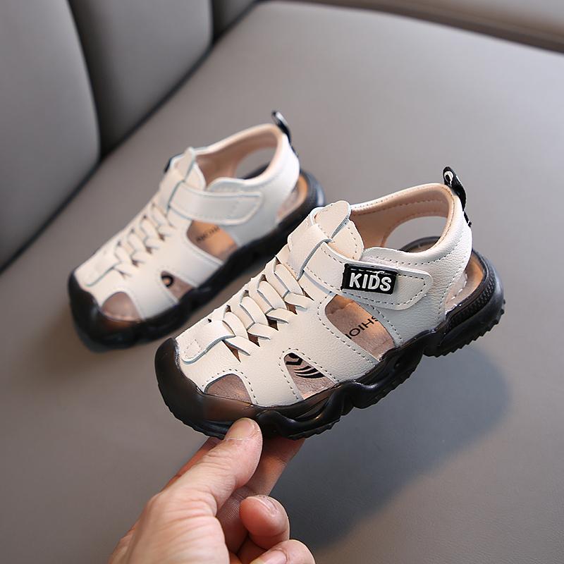 软底防滑包头鞋宝宝凉鞋