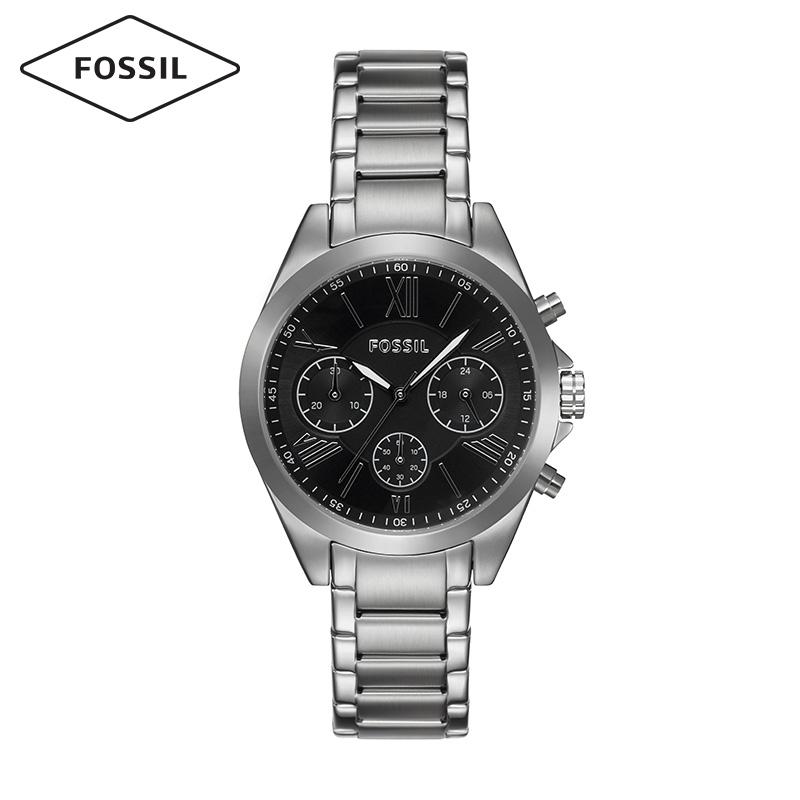 Fossil礼盒装情侣男女对表钢表带大表盘复古风欧美石英手表BQ2146