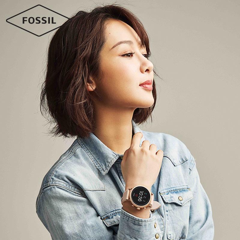 Fossil杨紫明星同款FOSSILQ系列第四代触屏多功能智能女表FTW6015