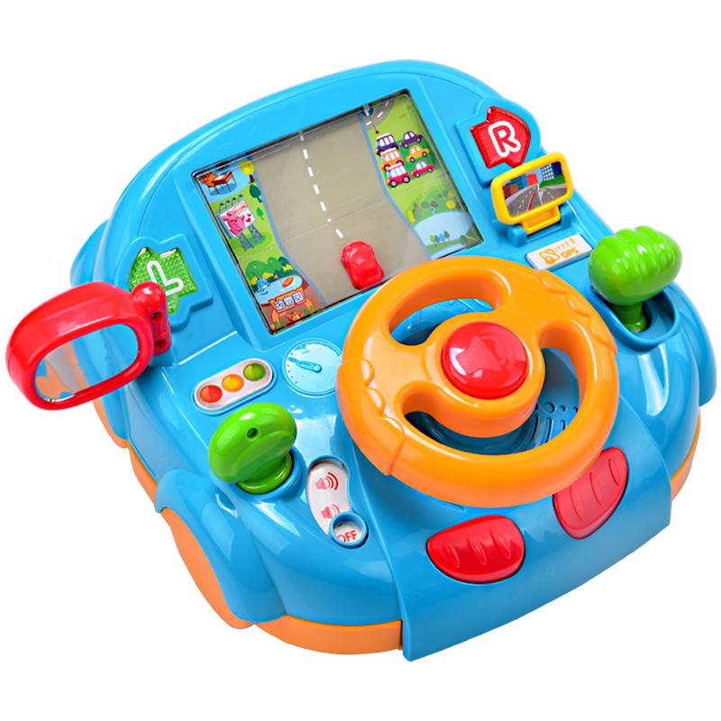 澳贝玩具汽车方向盘男孩模拟驾驶玩具1-2岁儿童宝宝安全早教玩具