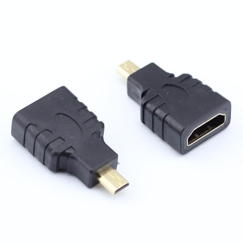 微型Micro HDMI转HDMI标准 hdmi D TYPE 转接头转换器线小转大母 Type D单反摄像机平板电脑MP4视频线