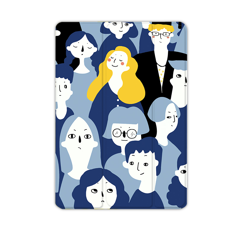 新款2018iPad air2保护套mini3迷你4苹果6平板电脑Pro9.7英寸10.5壳1原创文艺创意卡通超薄全包日韩简约个性