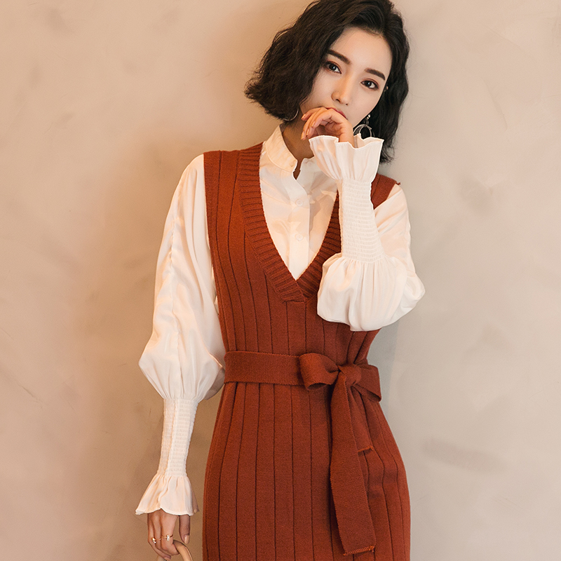 白色衬衫女2018长袖2018春装新款春秋chic上衣设计感小众港味衬衣