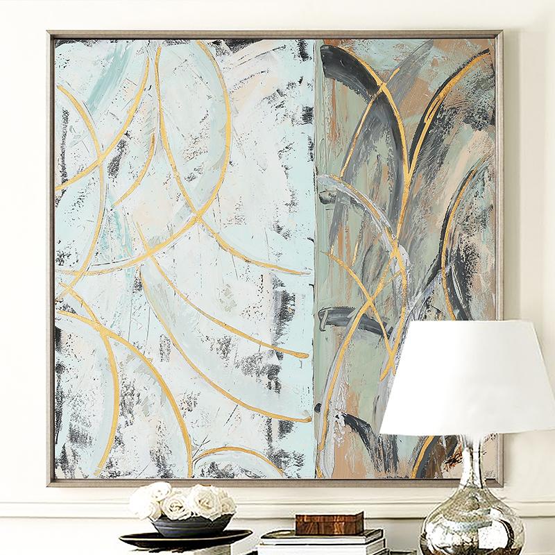 DUDUO都多|手绘油画定制原创抽象装饰画 卧室客厅沙发背景墙挂画