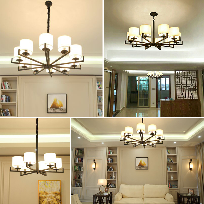 新中式吊灯全屋成套灯具组合套装三室两厅客厅餐厅中国风简约中式