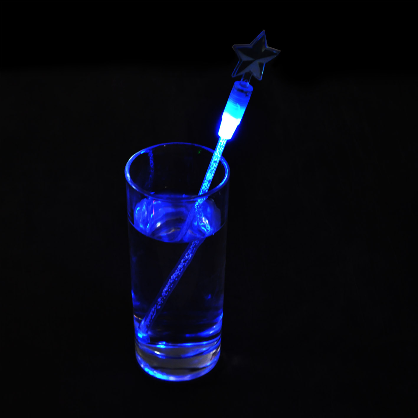 4只装彩色创意LED发光搅棒酒吧夜场鸡尾酒搅拌棒调酒4色套装酒具