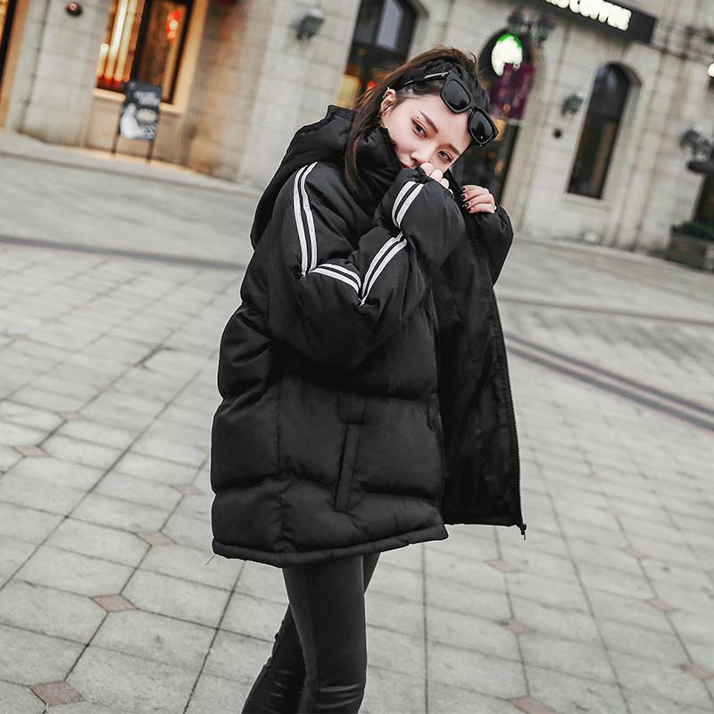 棉衣女冬装2018新款oversize面包服外套冬季加厚短款羽绒棉袄棉服