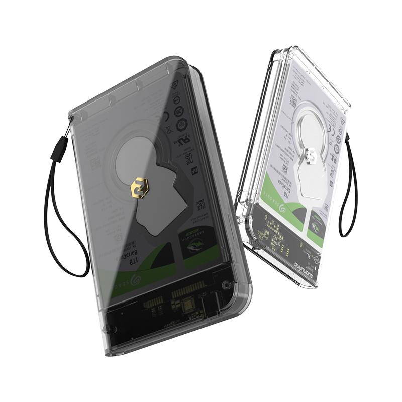 索皇移动硬盘盒子2.5寸外接usb3.0外置硬盘读取磁盘阵列保护盒台式机笔记本电脑机械ssd固态移动硬盘外壳硬盘