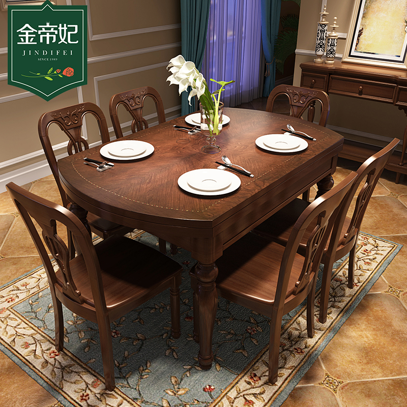 Retractable dining room table