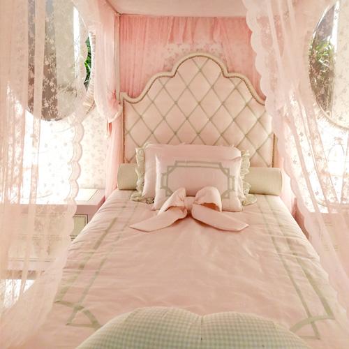 雅奇尔蒂公主床现代简约女孩床网红床1.2米 美式软包床主卧婚床