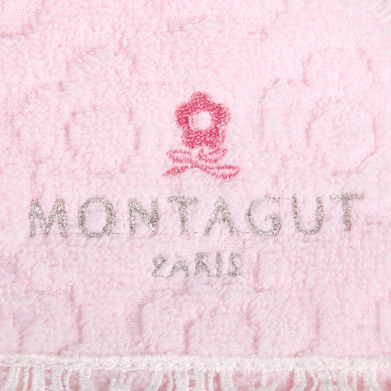 梦特娇Montagut周年庆版1浴1面1方3件套 花朵无捻纱 纯棉毛巾套装