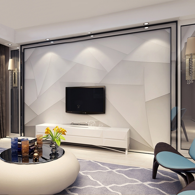 TV background wall paper simple modern living room wallpaper wall covering  seamless Nordic fashion light luxury high-end video wall