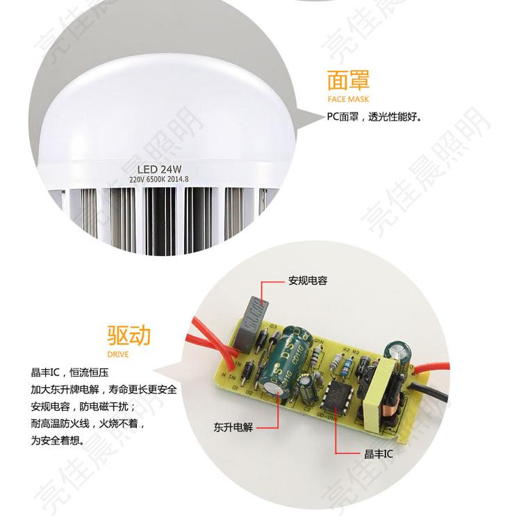 LED-светильник Led  E27 24W36W50W E40 - 19