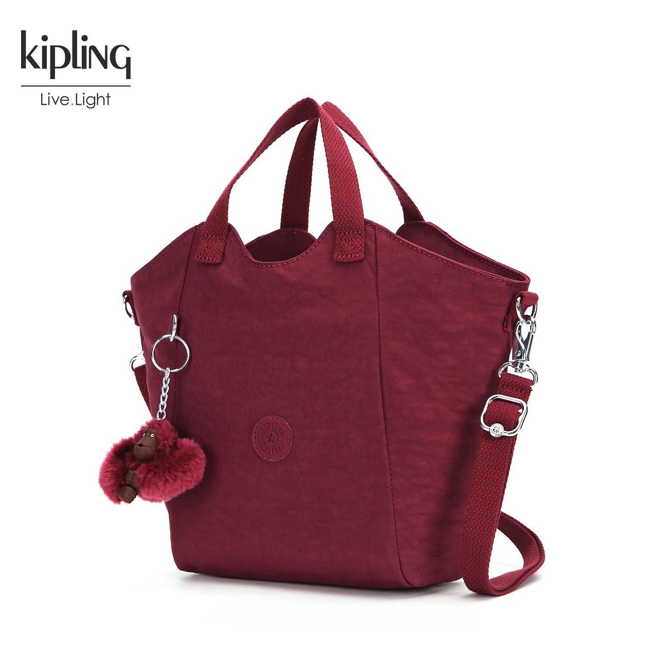 Kipling手提包女2018新款时尚女包K15386大容量蝙蝠包单肩手提包