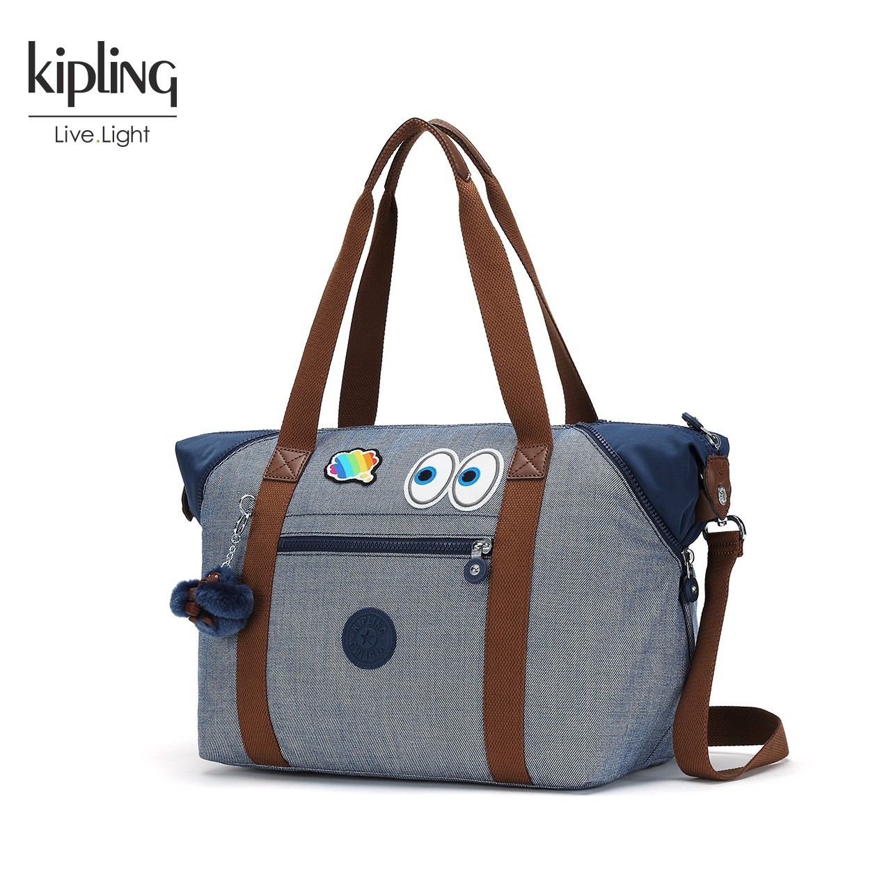 KiplingX Emoji表情联名款 潮款出街女包手提包休闲单肩斜挎包