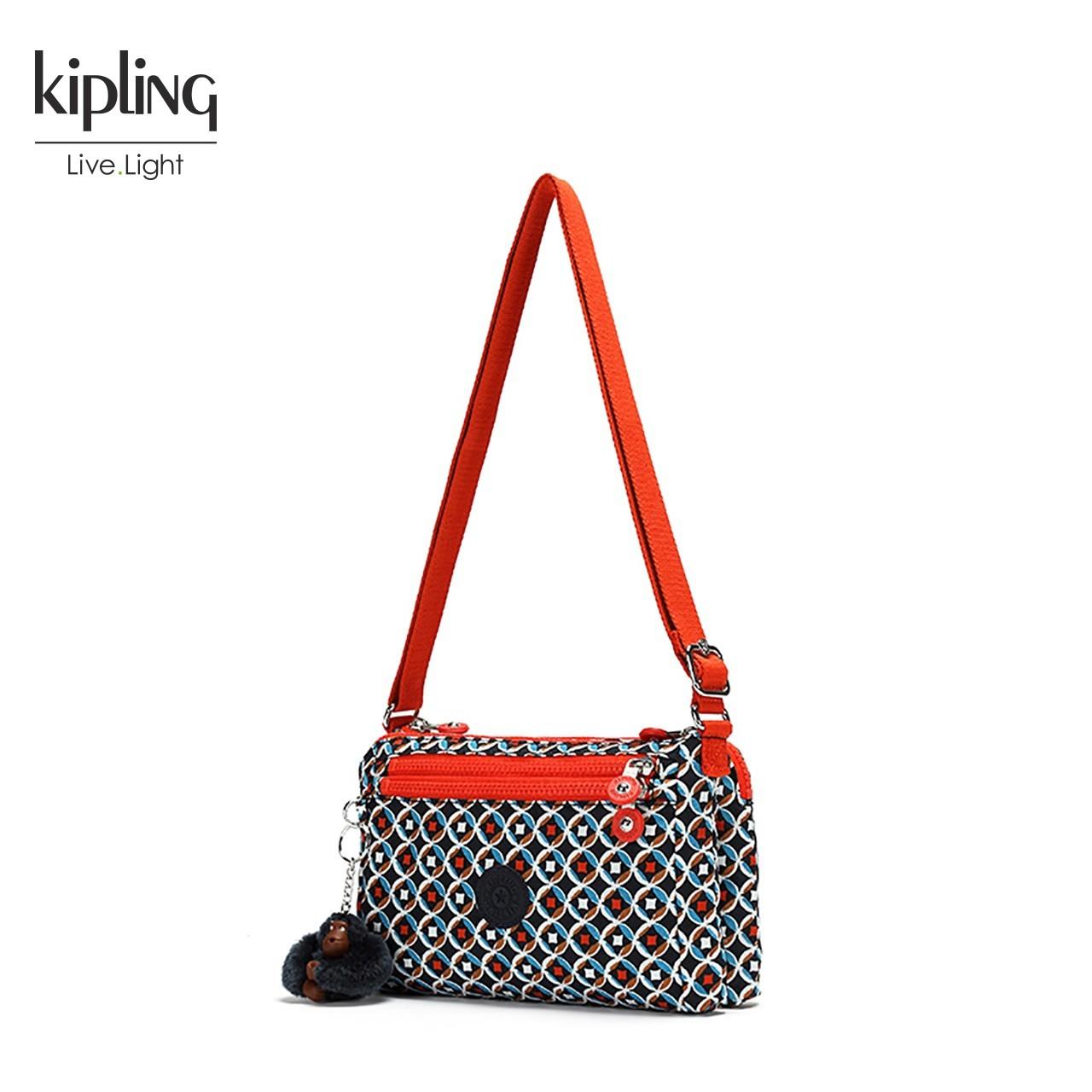 Kipling凯浦林2018新款单肩女包K72581印花轻便简约斜挎