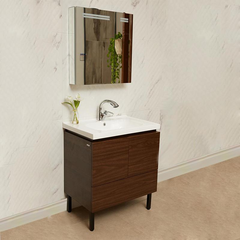 MOEN摩恩帕罗浴室柜组合现代简约浴室柜卫生间镜柜抽拉龙头套装