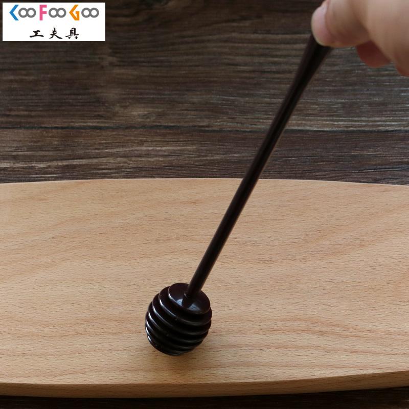 日本进口取蜜勺 工夫具C-6675蜂蜜勺搅拌棒采蜜棒 取蜜不滴漏牵丝
