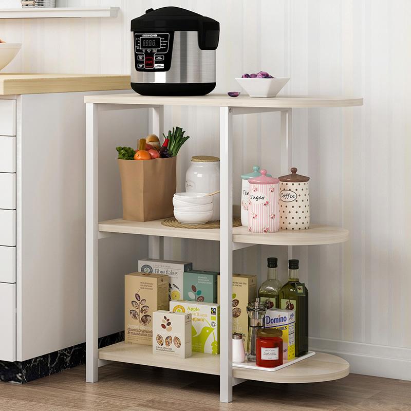 蔓斯菲尔厨房置物架微波炉落地层架收纳储物碗柜电器多功能烤箱架