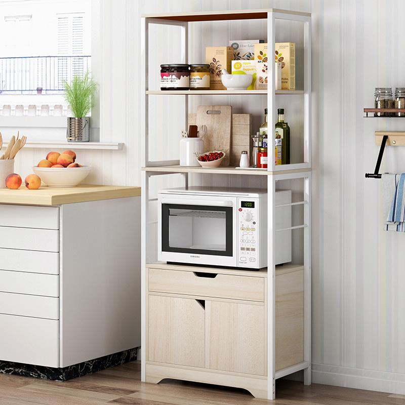 蔓斯菲尔厨房置物架收纳架落地多层储物架烤箱架微波炉架家用碗柜