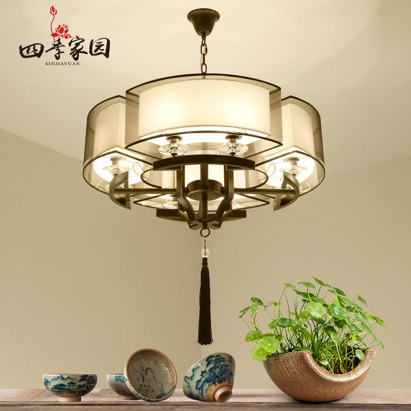 现代新中式吊灯中国风客厅灯具创意复古卧室书房中式仿古餐厅吊灯