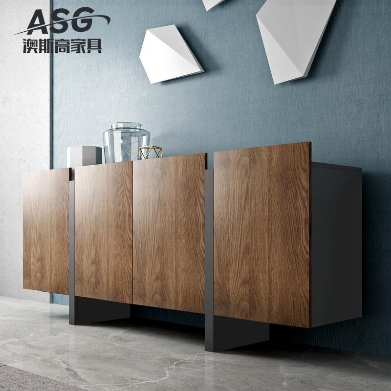 轻奢现代简约餐边柜 北欧灰色烤漆客厅餐厅备餐柜装饰柜酒柜2米