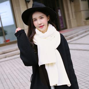 韩版新款毛线围巾套头围脖女冬天脖套韩国秋冬季加厚学生围巾