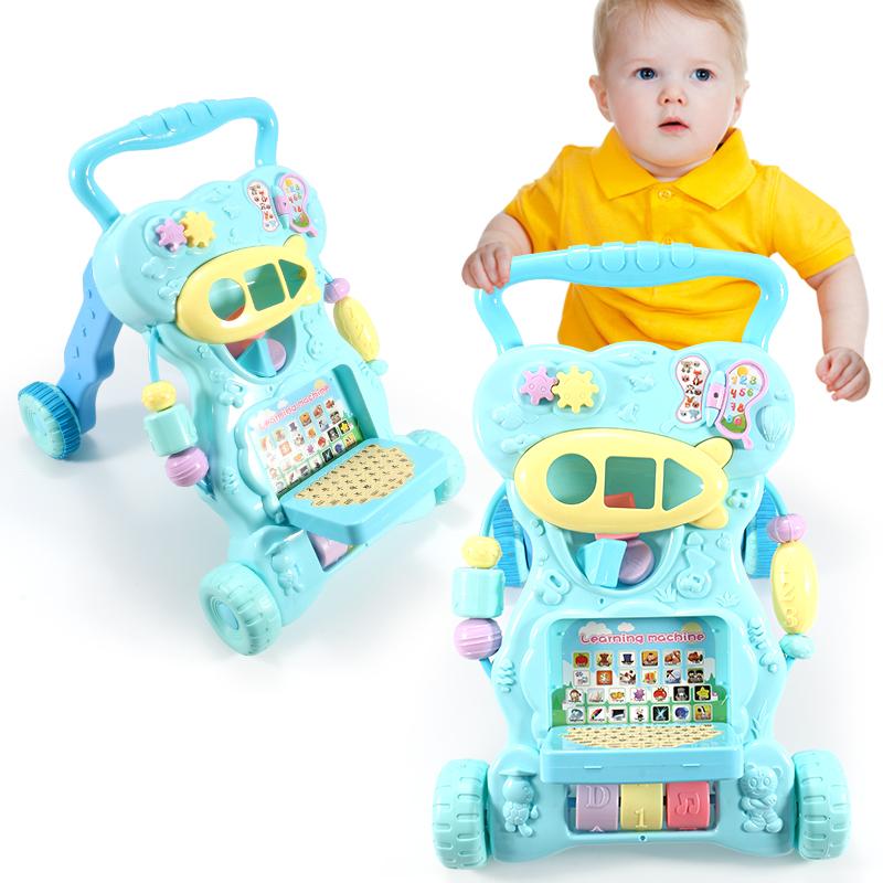 婴儿学步车多功能宝宝音乐益智6-7-18个月防侧翻可刹车手推学步车
