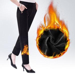 中老年女裤新款加绒加厚