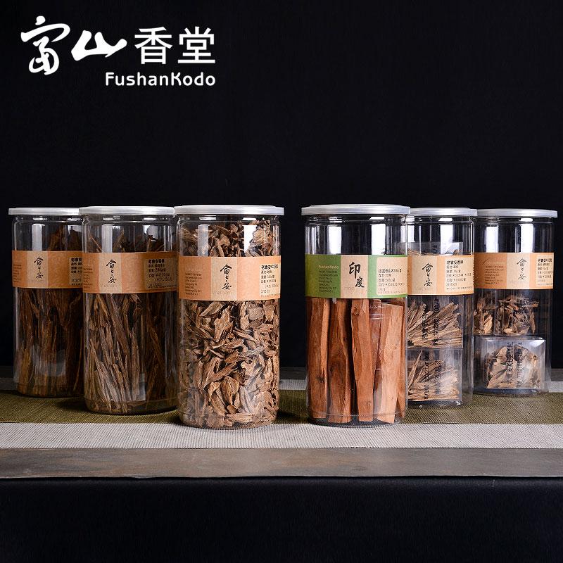 富山香堂金标 自然沉香檀香香材 越南会安香棒 印度老山香柴