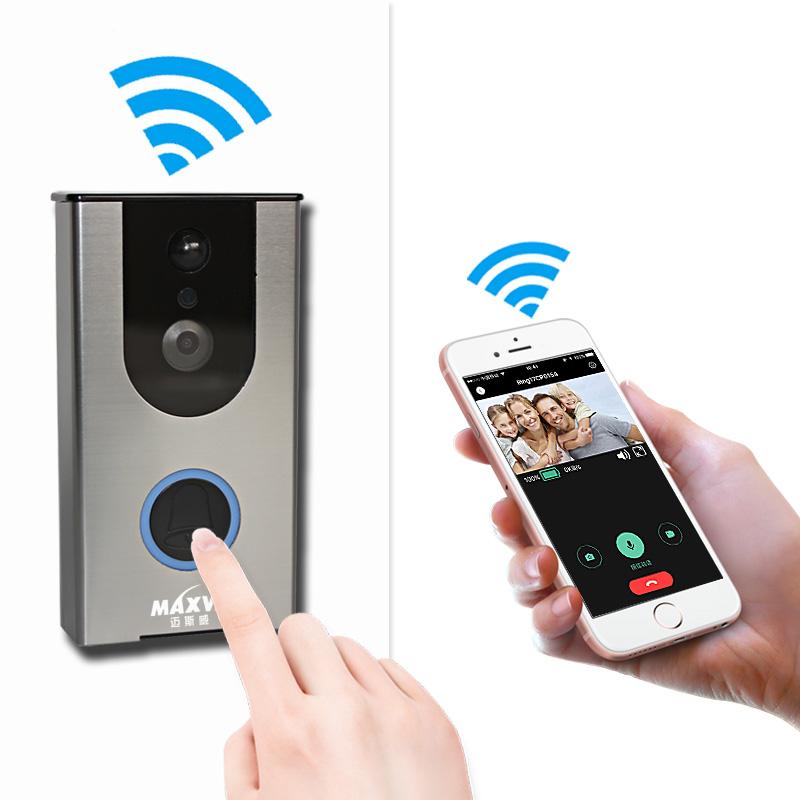远程WIFI无线智能可视猫眼门铃免布线高清手机视频对讲监控摄像头