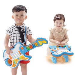 高盛儿童吉他电子琴可弹奏乐器宝宝音乐灯光故事机玩具1-3-6岁
