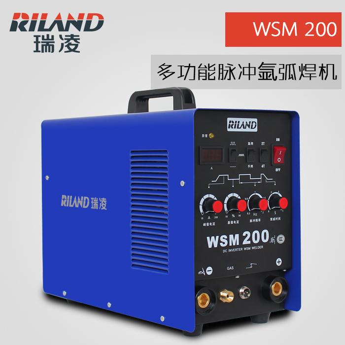 瑞凌氩弧焊机 WSM-200逆变直流多功能脉冲氩弧两用电焊机220V
