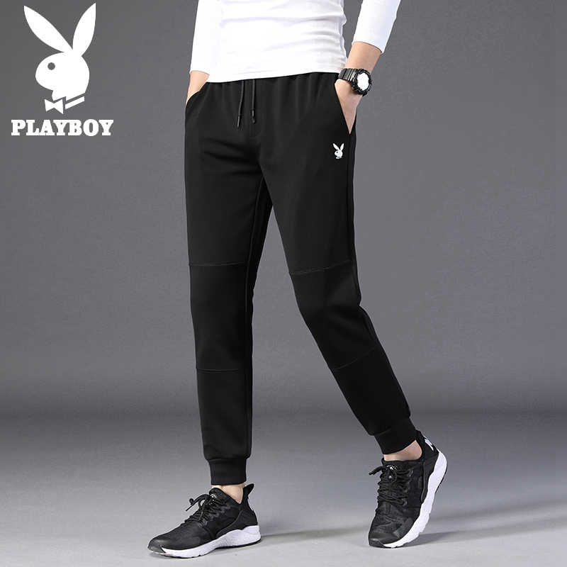 Playboy casual pants men's spring and autumn men's sports pants Korean version of the trend of self-cultivation pants pants pants men's clothing
