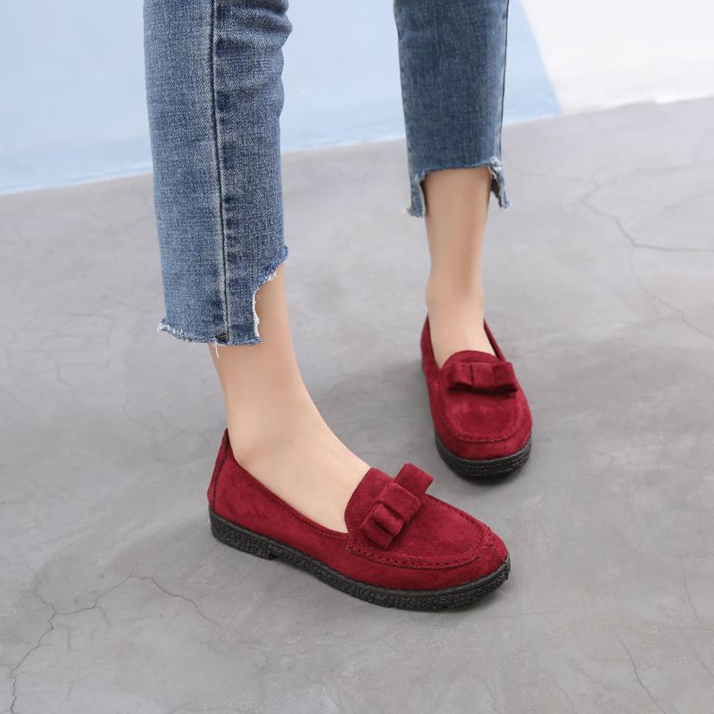 秋季平底鞋透气休闲单鞋豆豆鞋