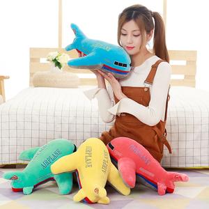 飞机模型毛绒玩具小飞机玩偶布娃娃大抱枕创意公仔儿童节生日礼物