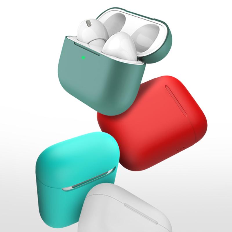 [自带防尘塞]airpods保护套airpodspro保护壳苹果2代1液态硅胶蓝牙无线耳机airpods充电盒子3代超薄软套潮pro